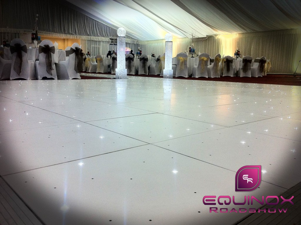 White Starlit LED Dancefloor Hire