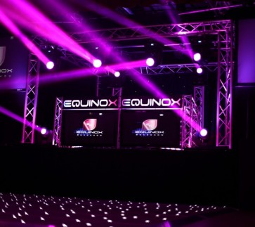Equinox Lighting White LED Dancefloor Hire with Beam Lighting