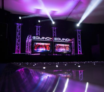 Equinox Beam Lighting with DJ Setup