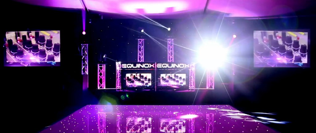 Premium DJ Setup with Projection Screens in Leicester