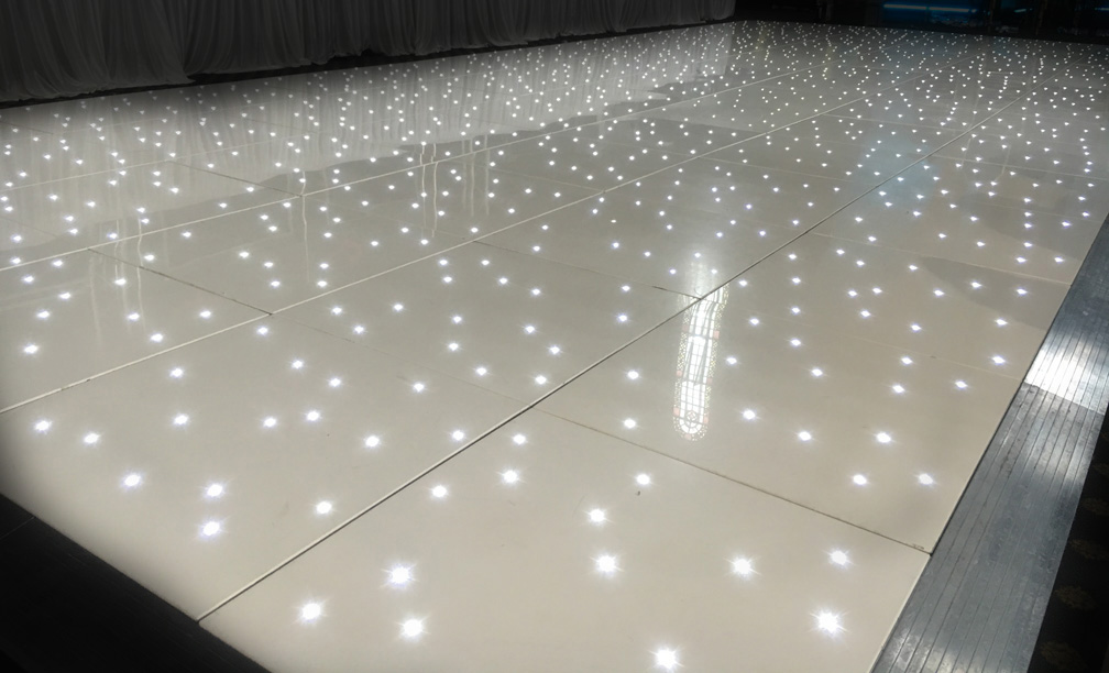 White LED Starlit Dancefloor Hire