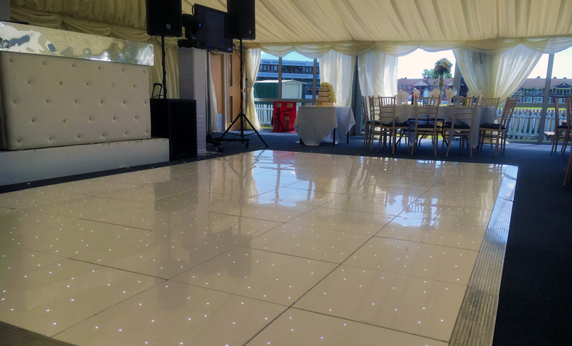 White LED Dancefloor 20x20ft