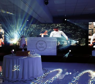 Equinox LED Video Wall Hire Package with split screen portrait screens
